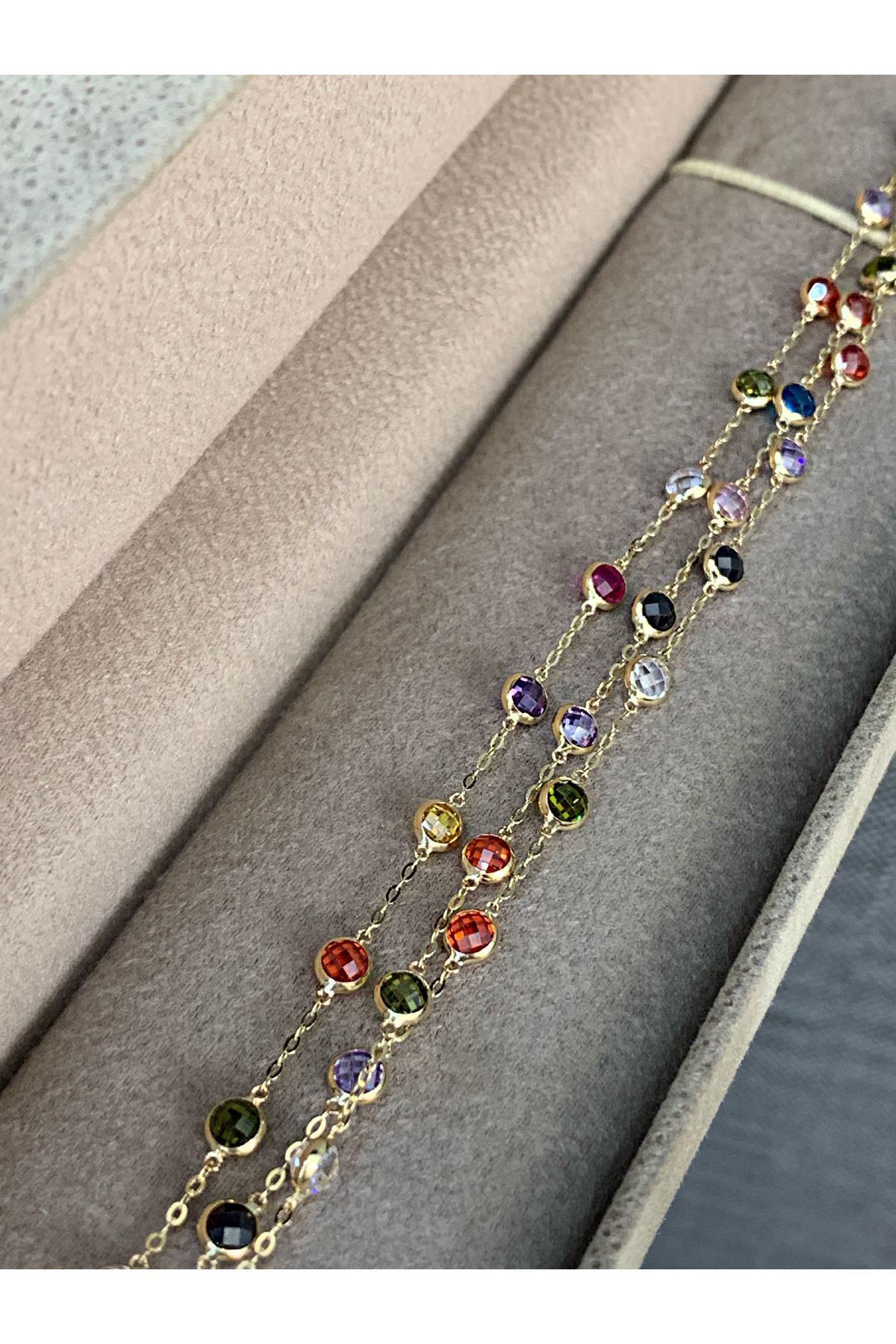 Renkli Taşlı Tiffany Bileklik BL0090
