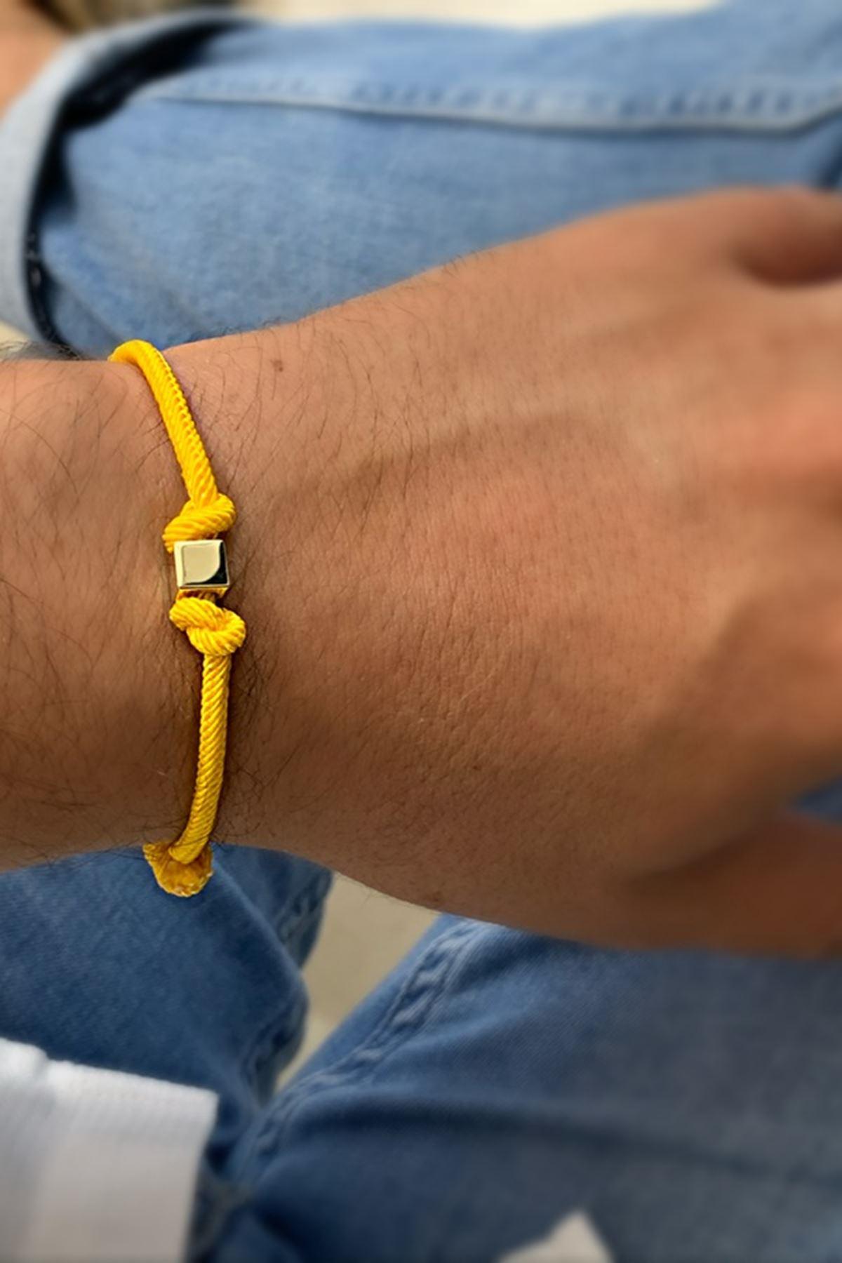 Unisex İpli Altın Bileklik Y01000 Sarı