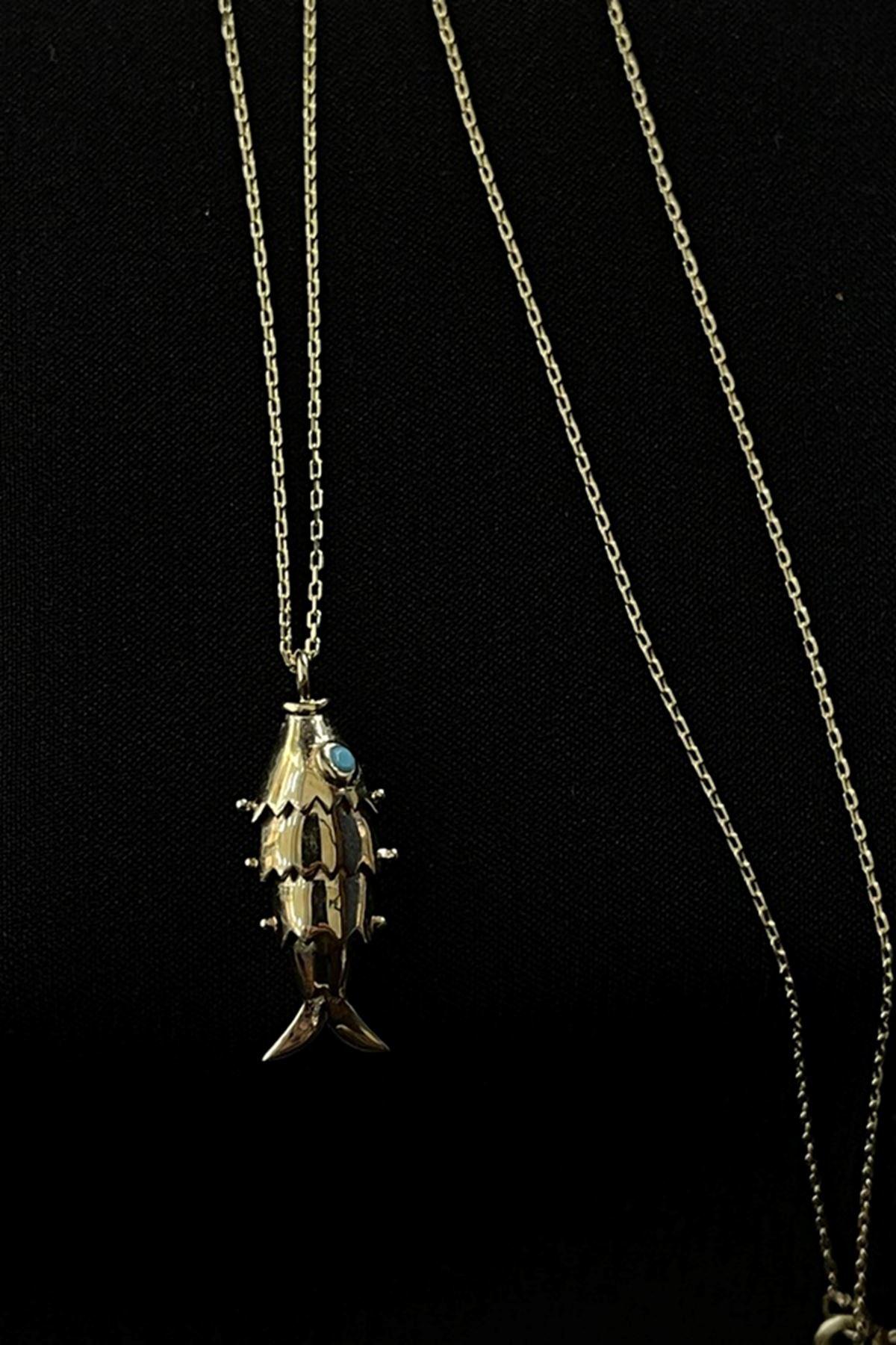 Balık figürlü Kolye KL0240