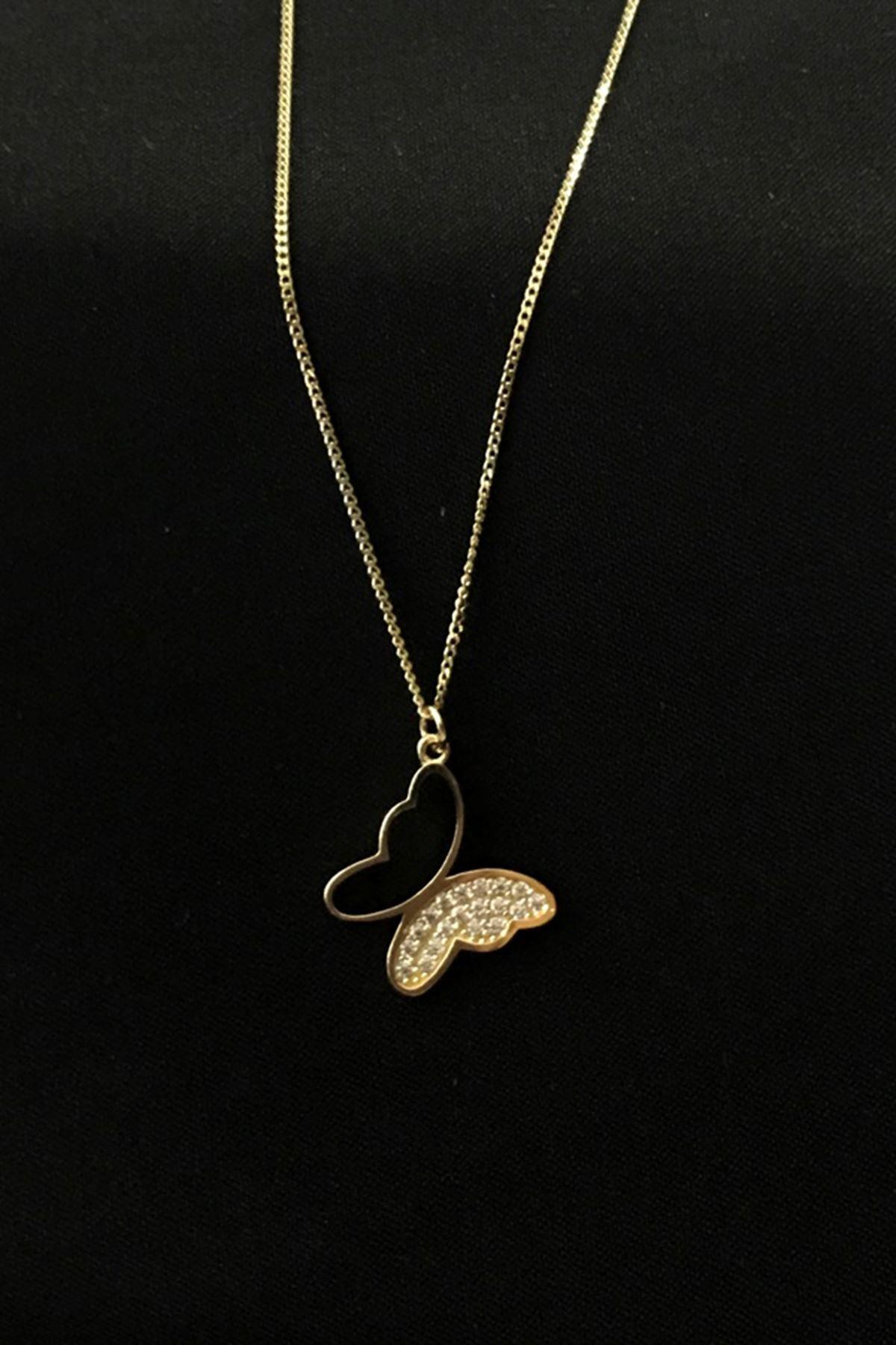 Kelebek Figürlü Kolye KL0256