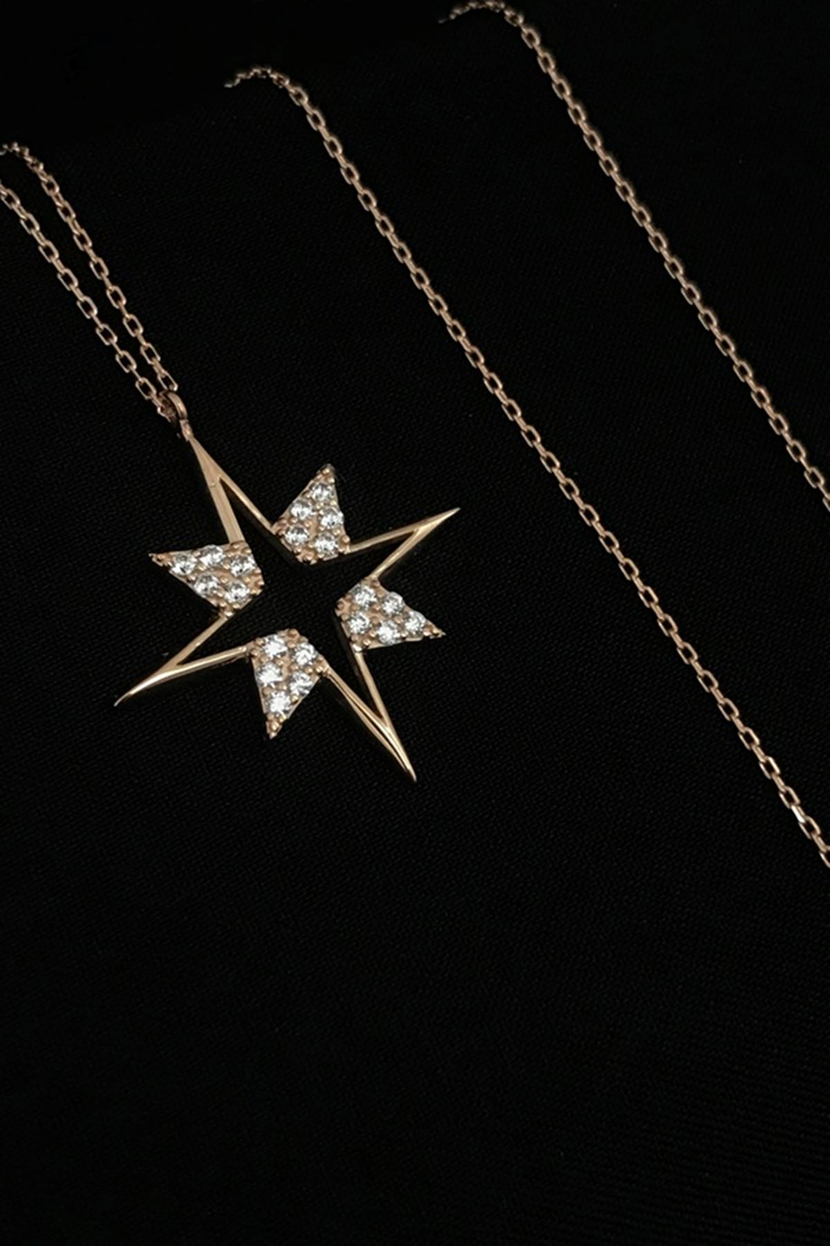 Taş Detaylı Yıldız Kolye KL0285